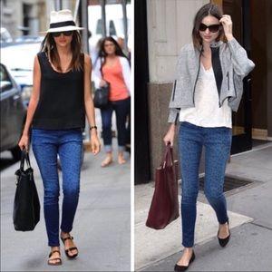 Current/Elliot 💎Sapphire💎 Leopard Skinny Jeans